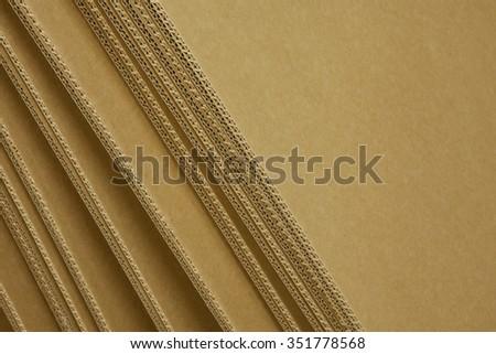cardboard box - detail - material - stock photo