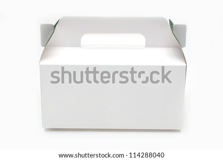 Cardboard box for cake&dessert - stock photo
