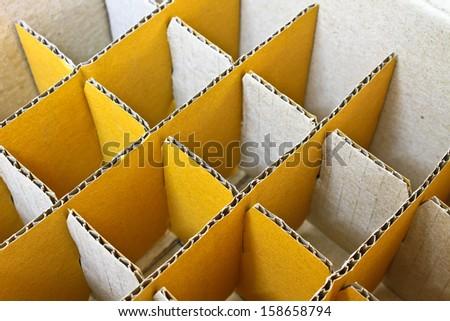 Cardboard box for insert bottles - stock photo