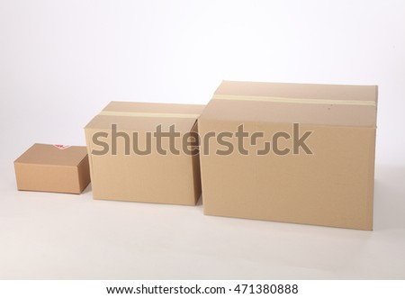cardboard box from small to big