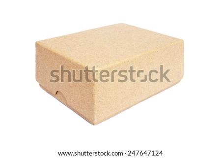 Cardboard box isolate on white background. - stock photo