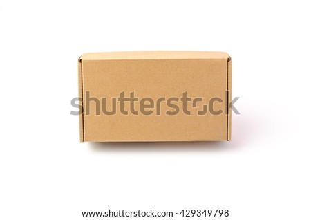Cardboard box isolated on a white background - stock photo