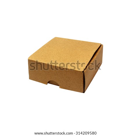 cardboard box, isolated on white background