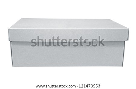 Cardboard box isolated on white background. Clipping path included.