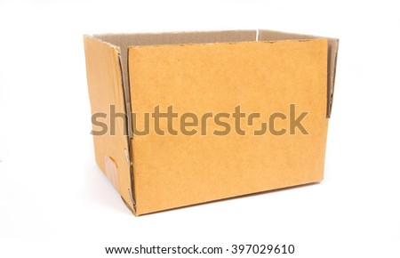cardboard box isolated on white background,paper box