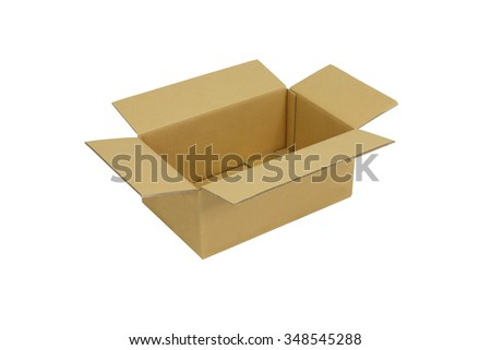 Cardboard box open. - stock photo