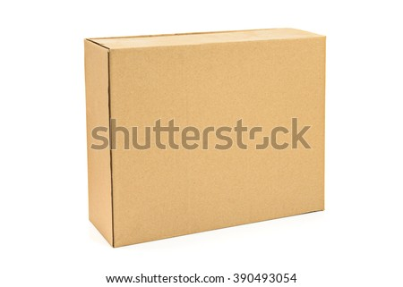 Cardboard box ready for any idea