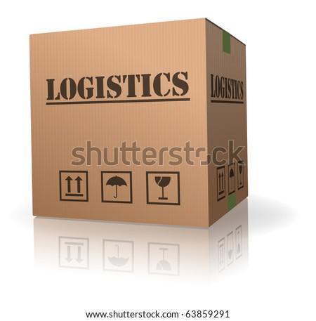 cardboard box storage box for logistics - stock photo