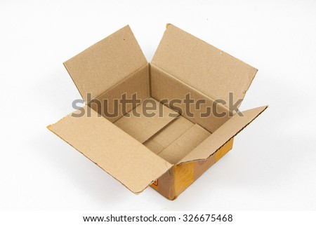 Cardboard boxes isolated over white background