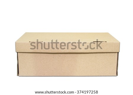 Cardboard boxes on isolated background. With path