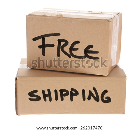 Cardboard Boxes with free shipping on them