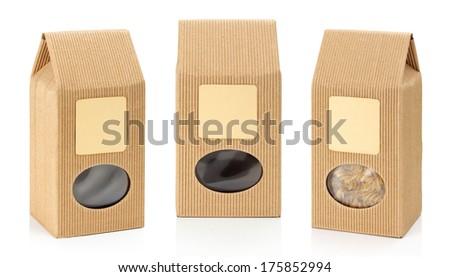 Cardboard packaging. Paper box - stock photo