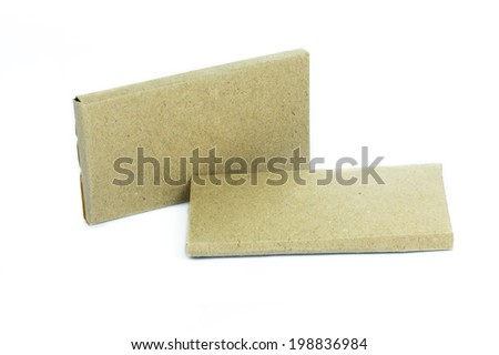 cardboard paper box isolated on white background