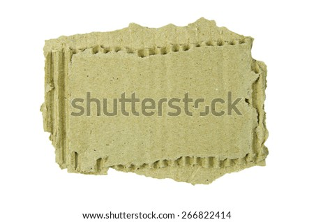cardboard pieces isolated on white background - stock photo
