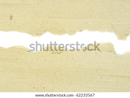 Cardboard pieces on the isolated white background