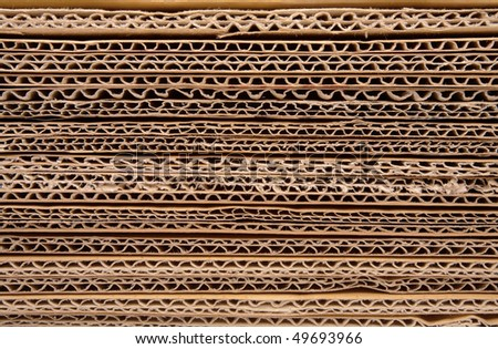 Cardboard pile at a short distance - stock photo