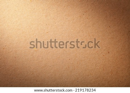 Cardboard texture for background. Brown paper. Top view - stock photo