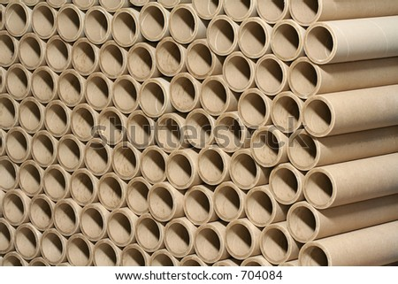 cardboard tubes - stock photo