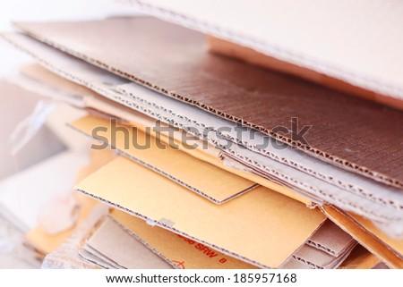 Cardboards - stock photo