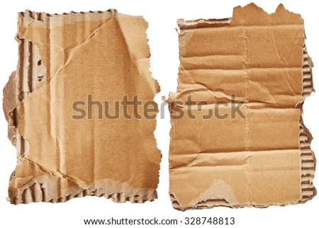 Cardboards isolated on white background