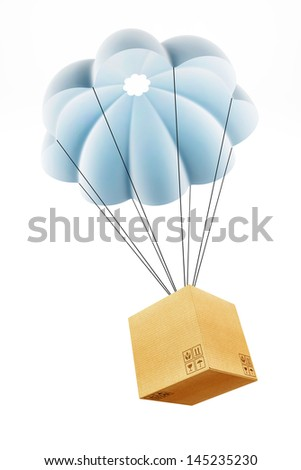 Cardbourd box with parachute concept