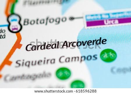 Cardeal Arcoverde Station Rio De Janeiro Stock Photo Royalty Free