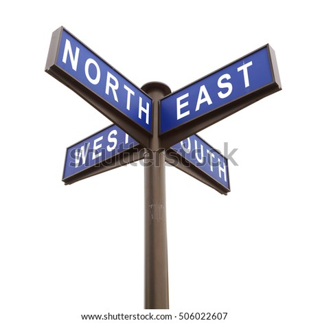 how to learn east west north south directions