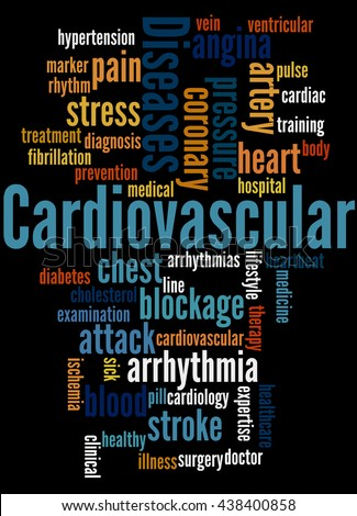Cardiovascular Diseases, word cloud concept on black background.