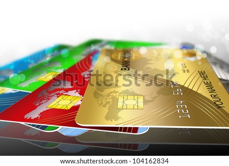 cards - stock photo