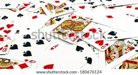 Cards and Magic - stock photo