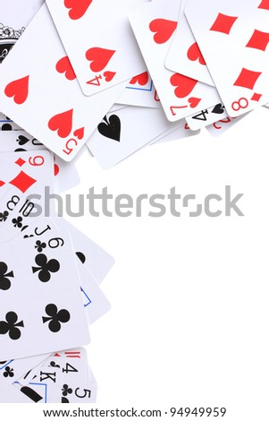 Cards isolated on white - stock photo