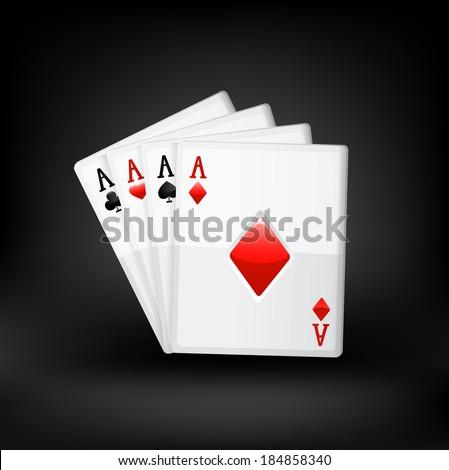 Cards. Raster copy. - stock photo