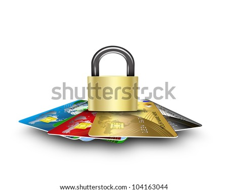 cards security - stock photo