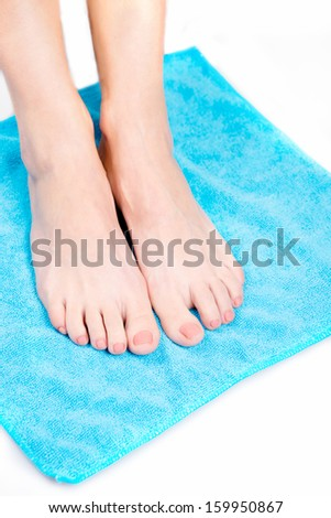 care for beautiful woman legs, Woman hand and feet with manicure , pedekyur feet