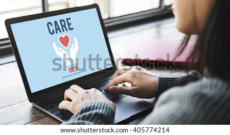 Care Give Charity Share Donation Foundation Concept - stock photo