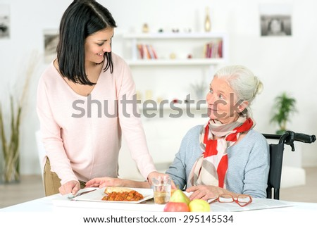 Care worker - stock photo