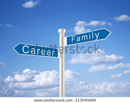 Career and Family Sign
