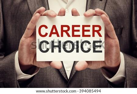 Career Choice - stock photo