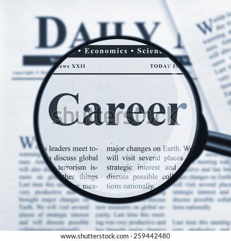 Career headline - stock photo