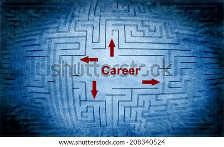 Career maze concept - stock photo
