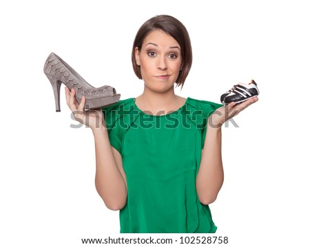 Career or baby - stock photo