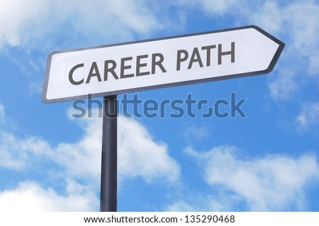Career path street sign