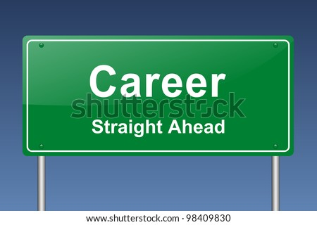 career traffic sign - stock photo