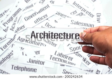 Careers diversity, concept ideas, Architecture