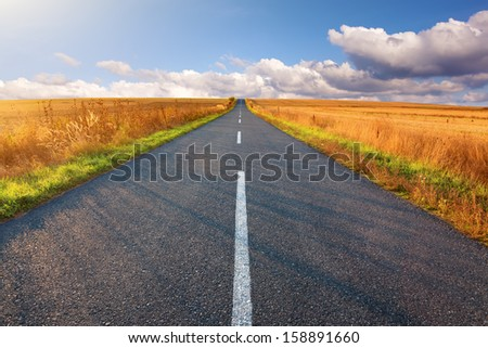 Carefree driving on beautiful sunny day - stock photo