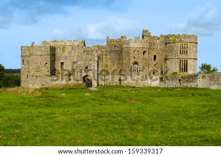Carew Castle in the Pembrokeshire National Park - Wales, United Kingdom