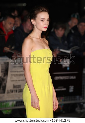 Carey Mulligan arriving for the Inside Llewyn Davis Premiere, at Odeon Leicester Square, London. 15/10/2013 - stock photo