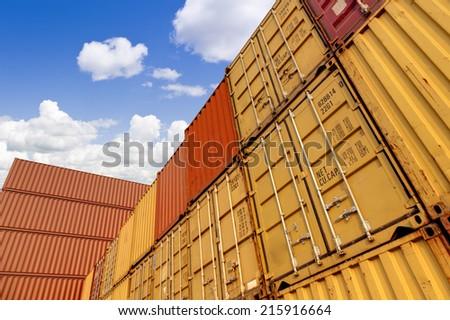 cargo blocks  - stock photo