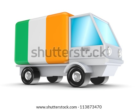 Cargo concept.Isolated on white background.3d rendered.