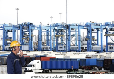 cargo container worker
